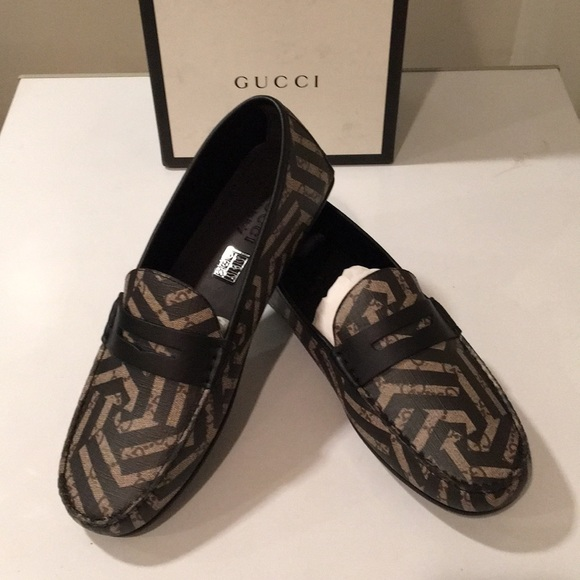 70f02aeb5 Gucci Shoes   New Caleido Driving Loafer Canvas Leather   Poshmark